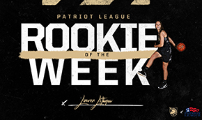 Lithgow Tabbed Patriot League Rookie of the Week