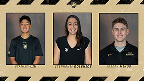 Liu, Dolehide and Minus Named February CEP Scholar Athletes