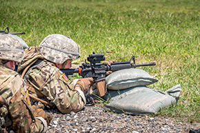 MAJ Bergman on the M4 Carbine Ranges