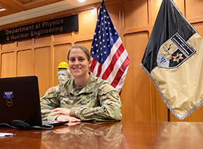 """MAJ Sublett Represents West Point at """"Women in STEM"""""""