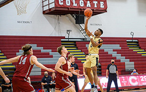 Men's Basketball Bounces Back to Beat Colgate