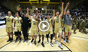 Men's Basketball Thrilling OT Win Over Navy