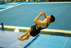 Men's Gymnastics Wins Historic Meet with Niigata University of Management