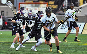 Men's Lacrosse Takes Care of Holy Cross in League Opener