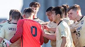 Men's Soccer Dominates in 1-1 Draw at Boston U