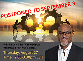 August Entrepreneur Virtual Speaker Series Postponed