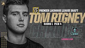 Rigney Fourth Overall Pick in Premier Lacrosse League Draft