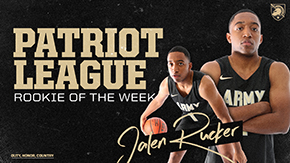 Rucker Named Patriot League Rookie of the Week