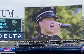 SSG Walsh Virtual National Anthem for the Yankees