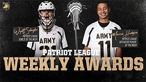 Schupler, Hudgins Earn Patriot League Weekly Awards