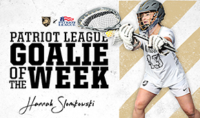 Slomkowski Tabbed Patriot League Goalkeeper of the Week
