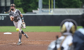 Softball Splits a Pair of Pitchers' Duels
