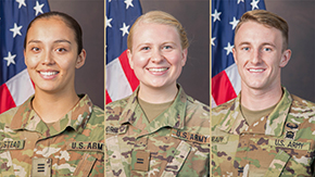 Three Cadets Receive Academic All-League Praise