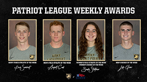 T&F Takes Five of Six Patriot League Weekly Awards