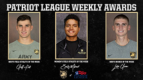 Track & Field Trio Takes Home Patriot League Weekly Awards