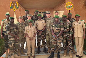 USMA Officers Travel to Niamey, Niger to assist EFOFAN