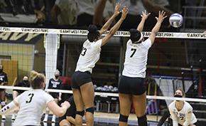Volleyball Bounces Back with 3-0 Win Over Crusaders