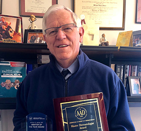 Dr. James '72 Receives Master Dermatologist Award & Mentor of the Year
