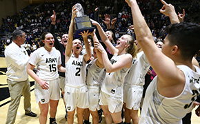 Women's Basketball Beats Navy Sings Second