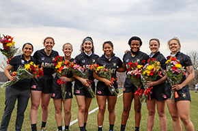 Women's Rugby Earns Three Wins on Senior Night