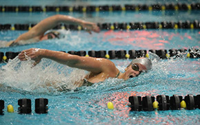 Swimming & Diving Goes 3-0 at Home Quad Meet