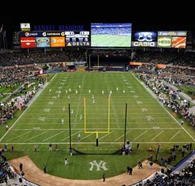 Army Football at Yankees Stadium Courtesy of MLB