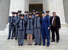 Cadets taking Advanced Constitutional Law visited the US Supreme Court in Washington DC