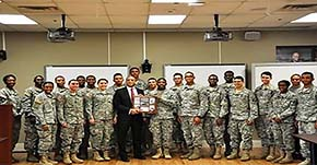 Eason 94 addressed USMA Excel Scholars