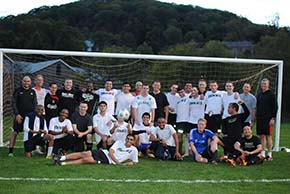 Fall 2014 Soccer Game Intl West Point CDTs vs DFL staff