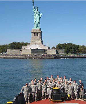 CDTs & USACE personnel aboard the Hayward NY district drift collection vessel