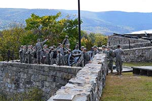 CDTs discuss the defense plan of Fort Putnam and the attempted betrayal by Benedict Arnold