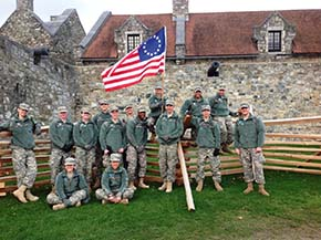 Cadets in front of the ramparts of Fort Ticonderoga NY