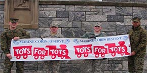 ODK presented a check to Orange County Marines in support of Toys for Tots campaign