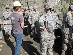 CDTs listen to the quarry manager describe operations at the Haverstraw basalt quarry