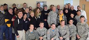 CDTs-faculty-family and friends enjoyed the DEP tailgate and a visit by former instructor General Dempsey
