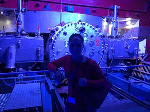 CDT Redmond '16 at the historical particle accelerator in CERN, Switzerland