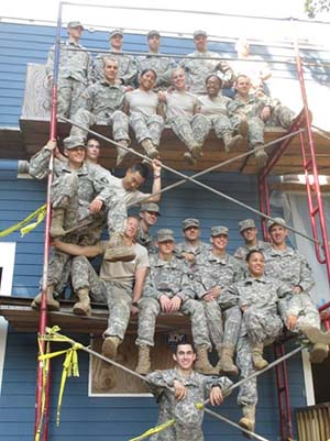 CDTs from Company F2 at Habitat for Humanity site in Yonkers, NY