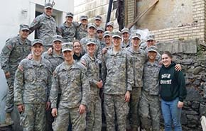 Cadets participate in a Habitat for Humanity project at Yonkers