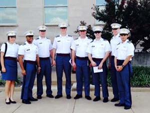Cadets outside the Pentagon after their meetings on Arctic energy