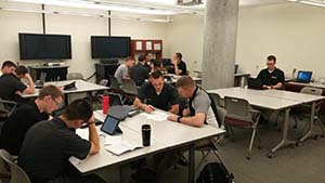 CDTs enrolled in EP490 conduct peer consultation in the West Point Writing Center