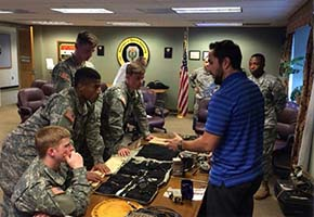 CDTs receive training on small unit power equipment from PEO Soldier rep Mr Martinez
