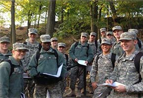 Cadets enjoy learning about the complex geological history of West Point