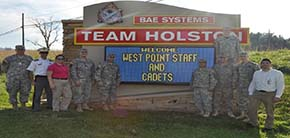 Team Holston at about the only location you are allowed to take a picture
