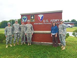 Cadet Capstone Team Meets with Collaborators at Army Research Laboratories