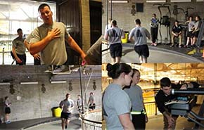 Cadets sample air in Hayes Gym during last weeks IOCT