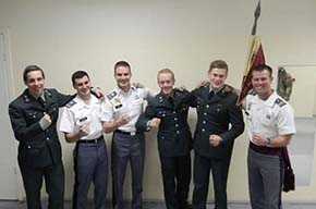 CDTs with their Norwegian cadet counterparts