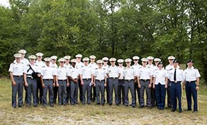 Cadets and faculty tour instrumented range facilities