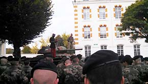 Annual ceremony to commemorate the French soldiers who died in battle there in 1916