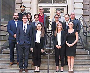 Garrison and Academic Members of the West Point Energy Council meet with Columbia University students