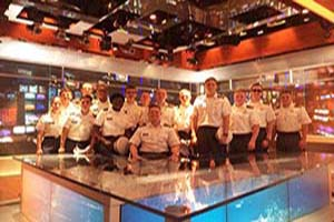 Cadets at the NBC Nightly News Desk